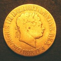 London Coins : A131 : Lot 1906 : Sovereign 1818 Marsh 2A ascending colon after BRITANNIAR, clear space between REX and F:D...