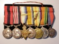 London Coins : A131 : Lot 396 : A Great War DCM & MM group to Sjt. H. Temple Royal Engineers. Distinguished Conduct Medal G.V.R....