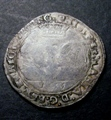 London Coins : A131 : Lot 545 : Ireland Shilling Philip and Mary 1555 S.6500 mintmark Portcullis NF/GF with some weak areas