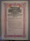 London Coins : A134 : Lot 14 : Canada, Kindersley (Saskatchewan) Farm Land Ltd., £100 debenture, 1912, ornate...