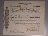 London Coins : A134 : Lot 40 : Great Britain, Anglo Argentine Company Ltd. Share Warrant (Scrip)certificate for 5 x £1 sh...