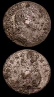 London Coins : A150 : Lot 2133 : Farthings Tin issues (2) 1690 edge with some lettering visible, but punctuation not visible About Fi...