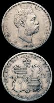 London Coins : A152 : Lot 1340 : USA - Hawaii (2) Half Dollar 1883 Breen 8034 Good Fine, Quarter Dollar 1883 Breen 8032 Fine