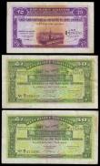 London Coins : A153 : Lot 355 : Lebanon (3) all dated 1942, 25 piastres series A/2 028330 Pick36 VF+ and 50 piastres (2) both 1st se...