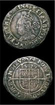 London Coins : A154 : Lot 1717 : Threepences Elizabeth I (2) 1568 S.2566 8 over 7 mintmark Coronet Good Fine with some surface marks,...