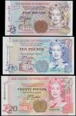 London Coins : A160 : Lot 365 : Guernsey (3), the States of Guernsey 20 Pounds, 10 Pounds & 5 Pounds issued 1996 & 1995, all...