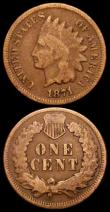 London Coins : A161 : Lot 1387 : USA One Cent (2) 1874 Breen 1988 Near EF, a little streaky, but still with plenty of eye appeal, OF ...