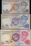 London Coins : A161 : Lot 364 : Lesotho Monetary Authority SPECIMEN (3), first series issued 1979, 2 Maloti series R/79 000000, 5 Ma...
