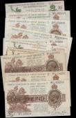 London Coins : A162 : Lot 106 : Warren Fisher (11), a collection of Treasury notes, 1 Pound T24 (3) issued 1919 including a first se...