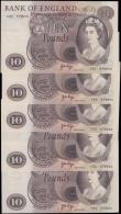 London Coins : A163 : Lot 1357 : Page 10 Pounds (5) B326 issued 1971, a consecutively numbered run series C52 579651 - C52 579655, (P...