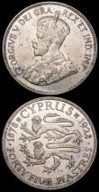 London Coins : A164 : Lot 339 : Cyprus 45 Piastres 1928 KM#19 GVF/NEF with some small spots and thin scratches,  Ionian Islands Lept...