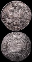 London Coins : A164 : Lot 507 : Spanish Netherlands (Brabant) Quarter Patagon undated Albert and Elizabeth KM#345 on a slightly irre...
