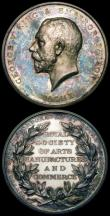 London Coins : A164 : Lot 717 : Royal Society of Arts, Manufacture and Commerce, President's Medal 1910, 56mm diameter in silve...