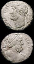 London Coins : A165 : Lot 1991 : Egypt (2) Roman Empire, Hadrian Billon Tetradrachm, Alexandria,  AD134-135, Laureate Head right AYT ...