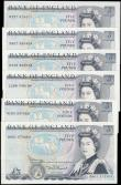 London Coins : A165 : Lot 564 : Five Pounds Somerset QE2 pictorial & The Duke of Wellington B343 issues 1980 (5) including a FRI...