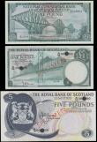 London Coins : A165 : Lot 798 : Scotland signature Burke notes includes SPECIMEN issues (3) comprising  The Royal Bank of Scotland L...