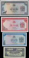 London Coins : A165 : Lot 852 : Africa (4) small group in high grades includes a Rhodesia Salisbury set of 3 notes comprised of  $1 ...