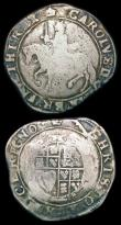 London Coins : A166 : Lot 1474 : Halfcrown Charles I Group III Third Horseman, no caparisons on horse S.2773 mintmark Crown VG, the r...