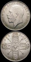 London Coins : A166 : Lot 2951 : Florins (2) 1922 ESC 941, Bull 3769, Davies 1748 dies 3E EF/AU and lightly toned with a small tone s...