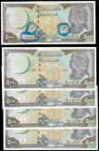 London Coins : A166 : Lot 461 : Syria ERRORS Central Bank 500 Syrian Pounds 1998 similar to Pick 110 (5) a consecutive set of 4 ERRO...