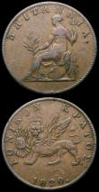 London Coins : A167 : Lot 2339 : Ionian Islands (2) Two Lepta 1820 KM#31 NVF, Lepton 1819 KM34 NVF