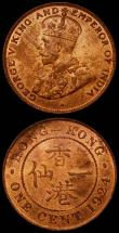 London Coins : A168 : Lot 2018 : Hong Kong One Cent 1924 KM#16 (2) UNC or very near so and lustrous one with good lustre, the other w...