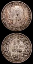 London Coins : A168 : Lot 2068 : Netherlands 25 Cents 1894 KM#115 About Fine/Fine, German States - Bavaria 3 Kreuzer 1804 KM#660 VG/N...