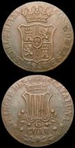 London Coins : A168 : Lot 2087 : Spain - Catalonia (2) 6 Quartos 1846 KM#128 EF, 3 Quartos 1836 CATALUNA legend KM#126 Fine
