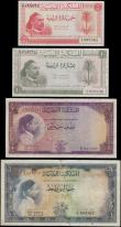 London Coins : A169 : Lot 230 : Libya Kingdom part denomination set of the 1st January 1952 'King Idris' issues (4) all in...
