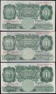 London Coins : A169 : Lot 39 : One Pounds Green Britannia medallion issues circa 1934-55 (3) comprising Peppiatt issues (2) includi...