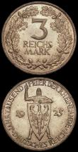 London Coins : A169 : Lot 934 : Germany - Weimar Republic (2) 3 Reichsmarks 1930F 700th Anniversary of the Death of Wather von der V...