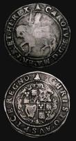 London Coins : A171 : Lot 1259 : Shilling Charles I Group F, Sixth Large 'Briot' Bust, double arched crown, S.2799 mintmark...
