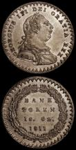 London Coins : A171 : Lot 1587 : One Shilling and Sixpence Bank Tokens (2) 1811 Bust type ESC 969, Bull 2112 EF and lustrous with som...