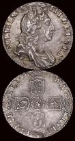 London Coins : A171 : Lot 1734 : Sixpences (2) 1697C First Bust, Later Harp, Small Crowns, ESC 1557, Bull 1271 NEF/EF attractively to...