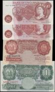 London Coins : A171 : Lot 27 : Bank of England Peppiatt, Beale & Hollom 1940-60's issues (4) mostly about UNC - UNC includ...