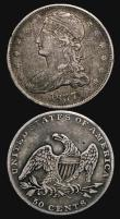 London Coins : A171 : Lot 739 : USA (2) Half Dollar 1837 Breen 4732 NVF/GF the reverse with some heavier contact marks in the field,...