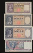 London Coins : A172 : Lot 134 : Italy (4) 50000 Lire 1978 issue Pick 107a Near Fine with a small edge tear, 1000 Lire (2) 1948 issue...