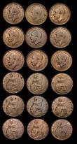 London Coins : A172 : Lot 1570 : Halfpennies (16) 1913 Freeman 392 dies 1+A, A/UNC with traces of lustre, 1914 Freeman 393 dies 1+A E...