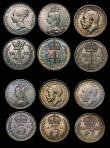 London Coins : A172 : Lot 1580 : Maundy Odds (10) as follows: a 3-part set 1911 comprising Fourpence, Threepence and Twopence NEF to ...