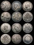 London Coins : A172 : Lot 1672 : GB and World in silver (12) GB Crowns (4) 1935 (2) Good Fine and Fine, 1937 (2) Fine and Good Fine, ...