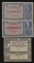 London Coins : A172 : Lot 171 : Switzerland 20 Francs 21.2.1929 first day of issue Pick 39a Fine 2 pinholes , 20 Francs 4.12.1942 VF...