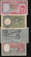 London Coins : A172 : Lot 61 : Albania 5 Franga ND (1939) Pick 6 Fine, Burma 5 Rupees ND (1945) signed Taylor P26a Fine,  Portugues...
